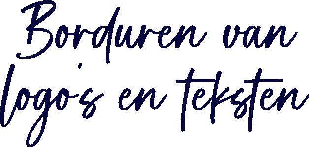 Borduren van logo's en teksten borduurbedrijf Raalte